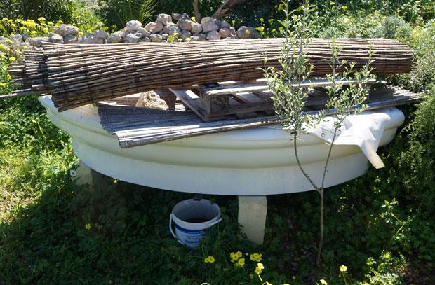 Des baignoires recyclées en lombricomposteurs