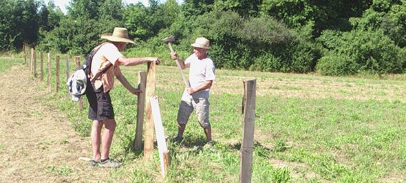 Premier jour de chantier pour la clôture